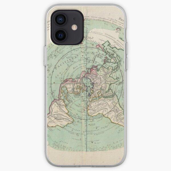 Coque iPhone « Carte de la Terre Plate:
