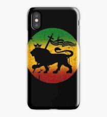 Lion of Judah Rasta Reggae Music Design iPhone Case