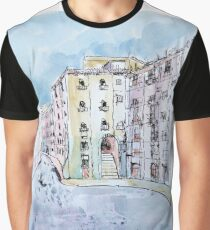Madrid and the Plaza Mayor Graphic T-Shirt