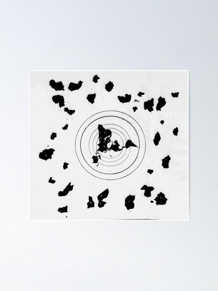Flat Earth Map Shingon Buddhist World Map 9th Century Poster