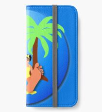 Funny feet 50's retro beach holiday! iPhone Wallet/Case/Skin