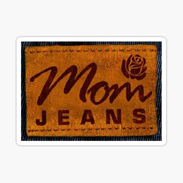 mom jeans  Sticker