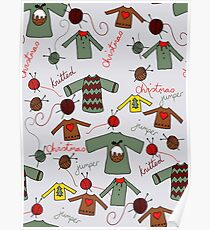 Knitted Christmas jumpers Poster