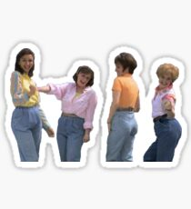 mom jeans sketch Sticker
