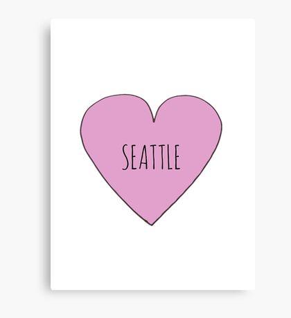 Seattle Love Canvas Print