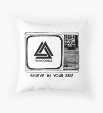 wwcomms believe (black) Throw Pillow