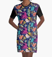 Cephalopods Graphic T-Shirt Dress