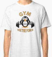 Penguin with a barbell Classic T-Shirt