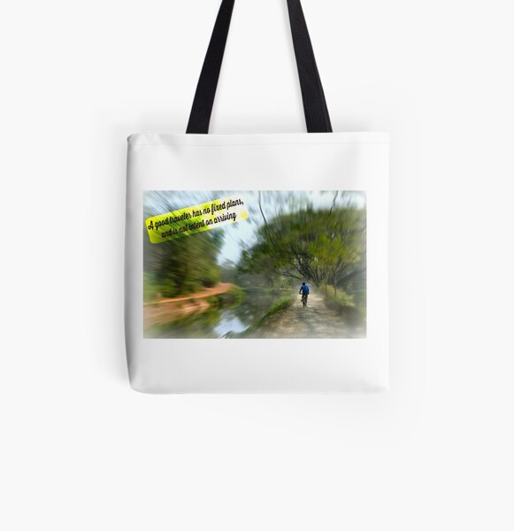 No Fixed Plans Travel Quote Collection  All Over Print Tote Bag