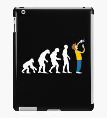 Human Evolution Selfie Funny Graphic iPad Case/Skin