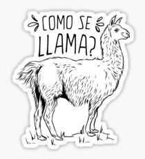 Como Se Llama Funny Spanish Humor Sticker