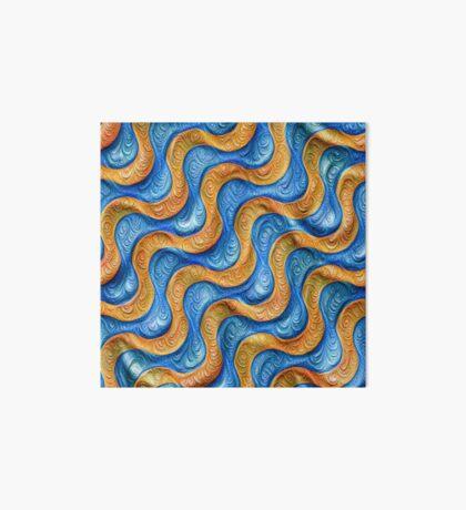 Frozen plasticine liquid lines and waves #DeepDream Art Board Print