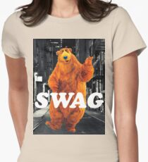 Bear in the hoodSwag Women's Fitted T-Shirt