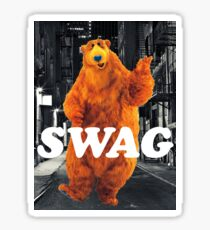 Bear in the hoodSwag Sticker