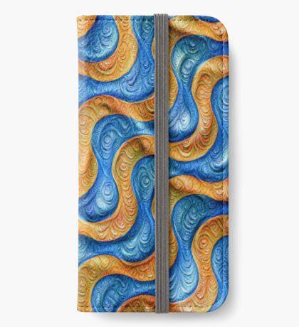 Frozen plasticine liquid lines and waves #DeepDream iPhone Wallet