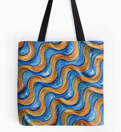 Frozen plasticine liquid lines and waves #DeepDream Tote Bag