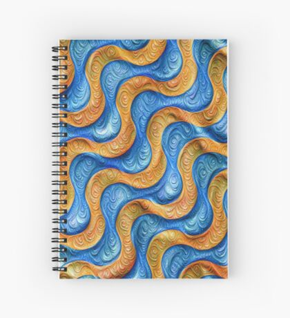 Frozen plasticine liquid lines and waves #DeepDream Spiral Notebook