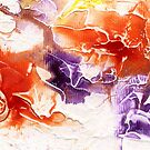 Purple and red fire abstract by Simon Rudd