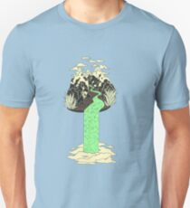Levitating Island with a Source coming from nowhere T-Shirt