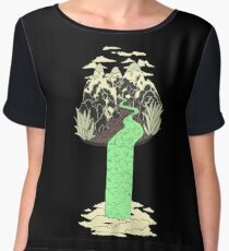Levitating Island with a Source coming from nowhere Women's Chiffon Top