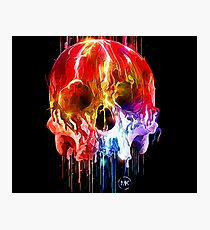 Coloured Skull Photographic Print