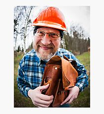 Funny Engineer Photographic Print