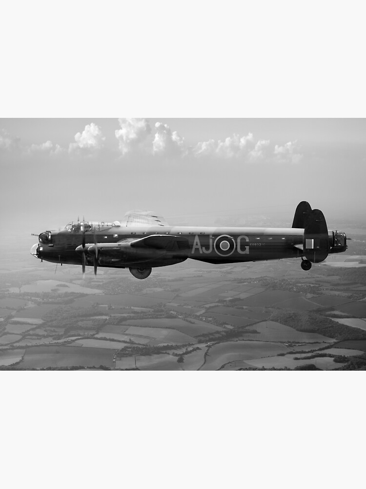 Dambusters Lancaster AJ-G carrying Upkeep, B&W version by garyeason