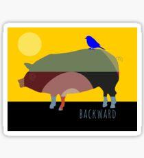 Backward Sticker