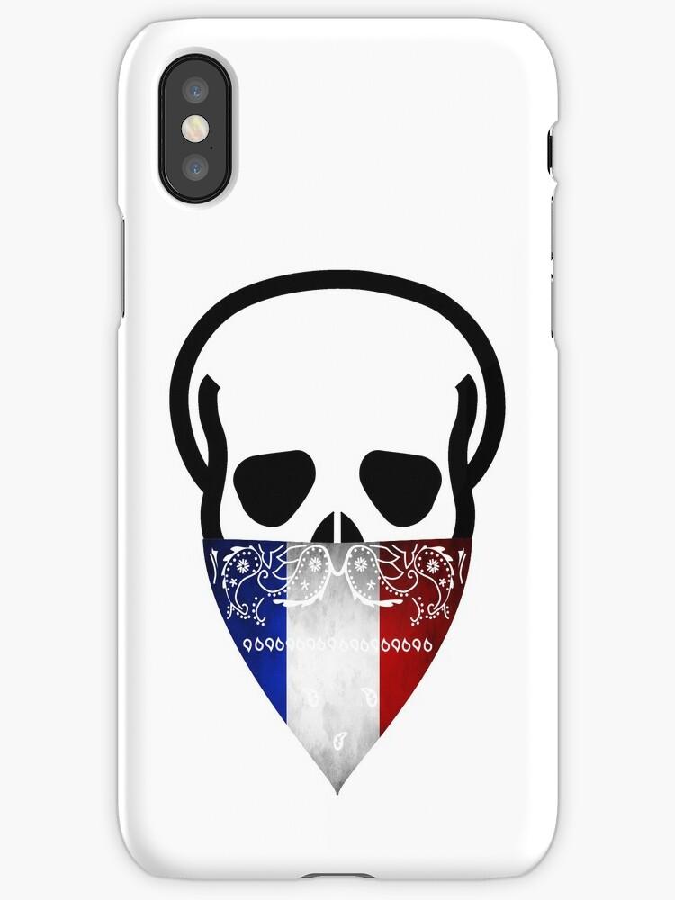 France Skull Gangster black by g3nzoshirts
