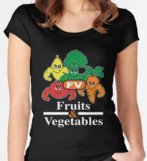 Fruits and Vegetables T-Shirts Renato Laranja Women's Fitted Scoop T-Shirt