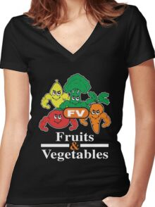 Fruits and Vegetables T-Shirts Renato Laranja Women's Fitted V-Neck T-Shirt