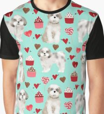 Shih Tzu valentines day pattern for dog lover with cute shih tzu puppy love by pet friendly by PetFriendly Graphic T-Shirt