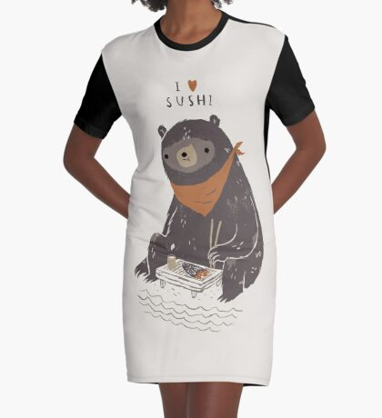 sushi bear Robe t-shirt