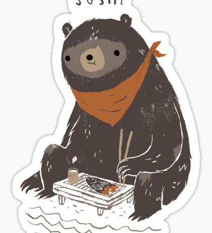 sushi bear Sticker