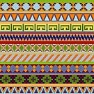 Tribal Aztec Patterns by walstraasart