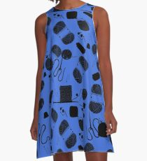 Yarn electric blue A-Line Dress