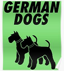 German Dogs Poster