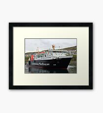 MV Lord of the Isles arriving in Mallaig Framed Print