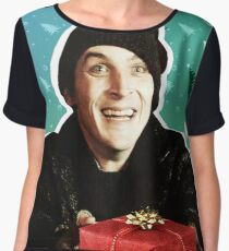 Oswald Cobblepot- Holiday Theme Women's Chiffon Top