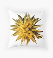 Gold Bow Throw Pillow