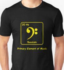 Bassium -- Primary Element of Music Unisex T-Shirt