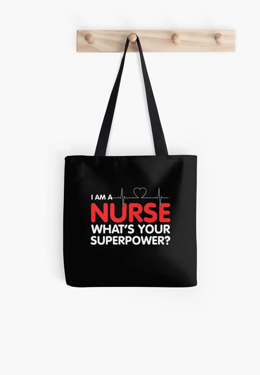 Nurse Tote Bags By Nomeinteresa Redbubble