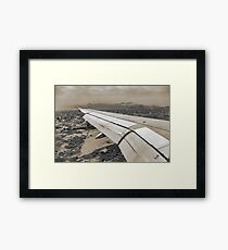 Airplane Arriving to Small Town Framed Print