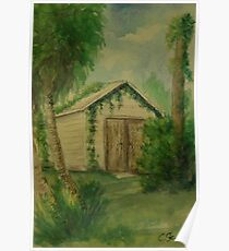 Overgrown Shed WC161103a  Poster