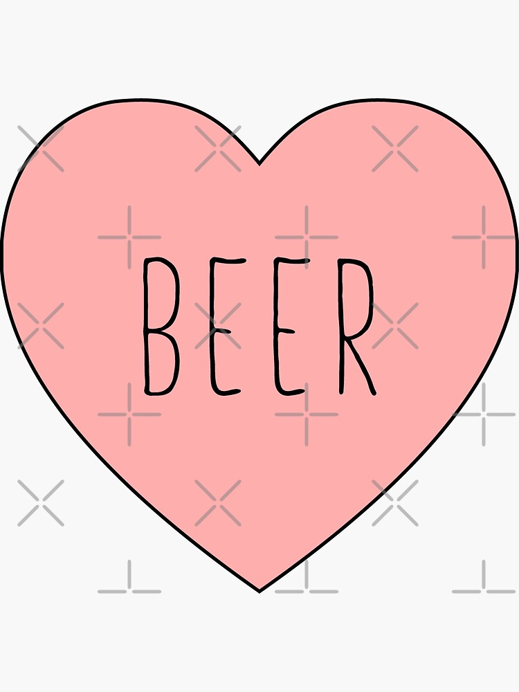I Love Beer Heart | Black Variant by thepinecones
