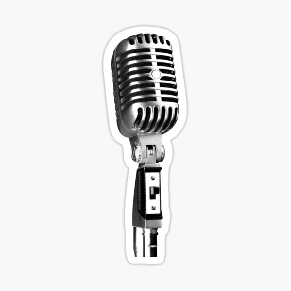 Classic Retro Microphone Sticker