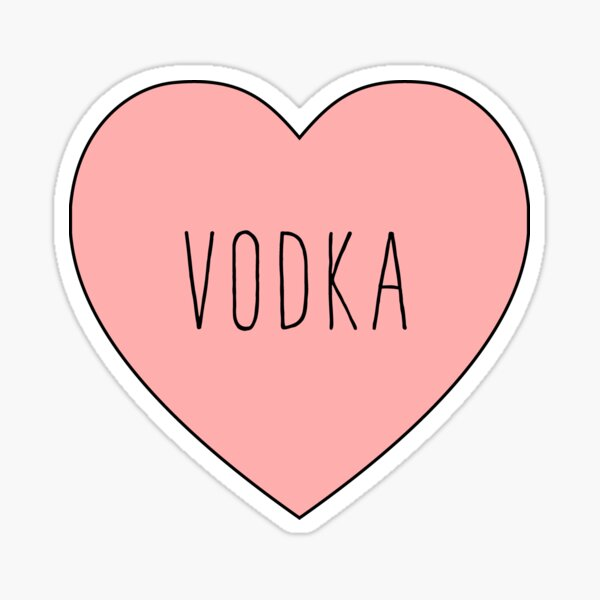 I Love Vodka Heart | Black Variant Sticker