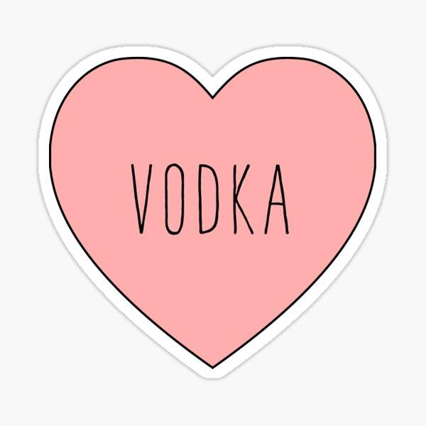 Amo el corazón del vodka | Variante negra Pegatina