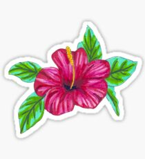 Pink Hibiscus - Marker Illustration Sticker