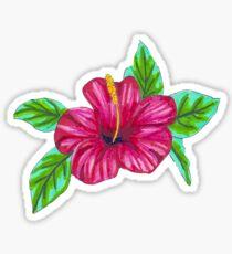 Pink Hibiscus - Marker Illustration Sticker